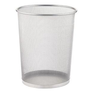 Silver Mesh Wastebasket