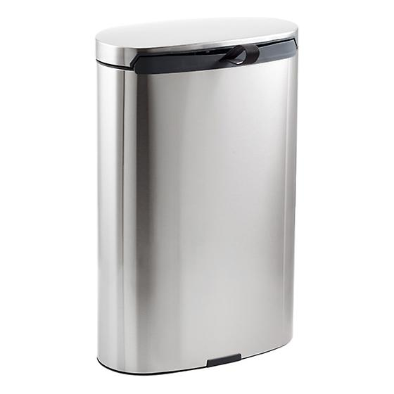 Brabantia Stainless Steel 8 gal. Flatback Semi-Round Can
