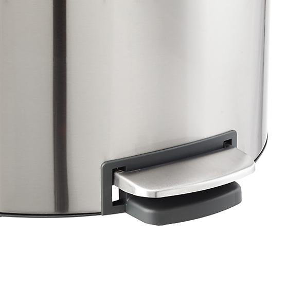 Brabantia Stainless Steel 10 gal. Flatback Semi-Round Can