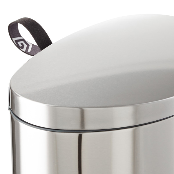 Brabantia® Stainless Steel 10 gal. Flatback Semi-Round Can
