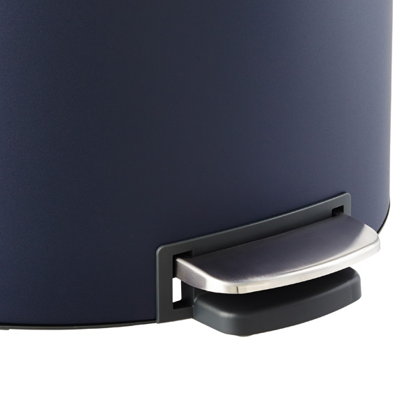 Brabantia Mineral Navy 10 gal. Flatback Semi-Round Can