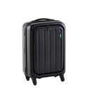 "Matte Black 20"" Lucid 4-Wheeled Luggage"