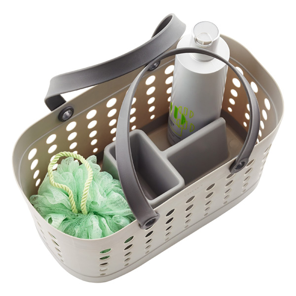 Grey Flexible Shower Tote