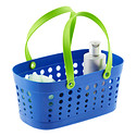 Blue & Green Flexible Shower Tote