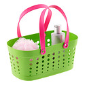 Green & Pink Flexible Shower Tote