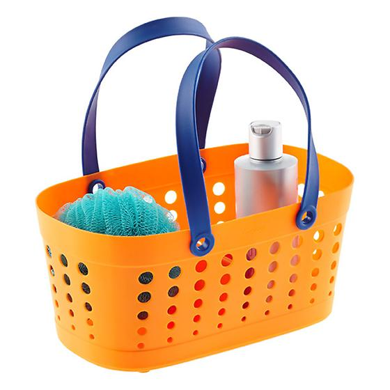 Orange & Blue Flexible Shower Tote by Casabella