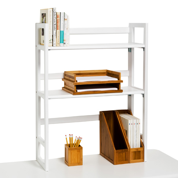 White Solid Wood Folding Hutch The Container Store