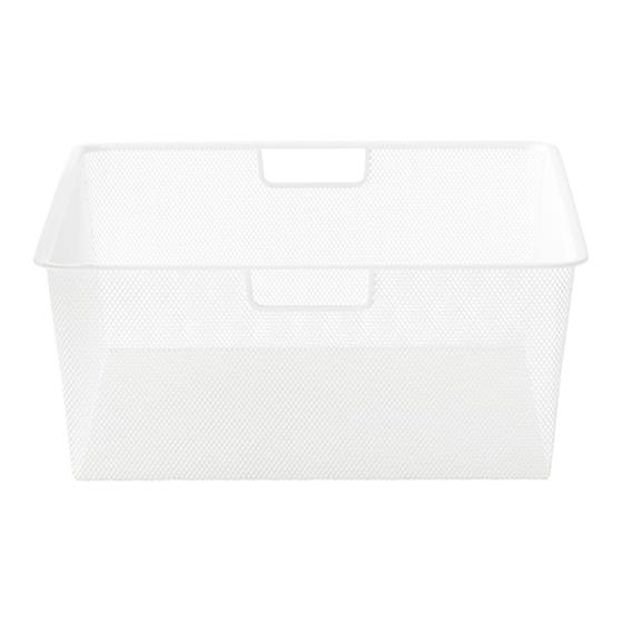 White Cabinet-Sized elfa Mesh Drawers