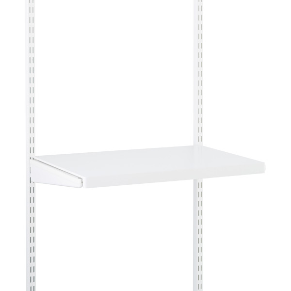 White elfa décor Gliding Shelf