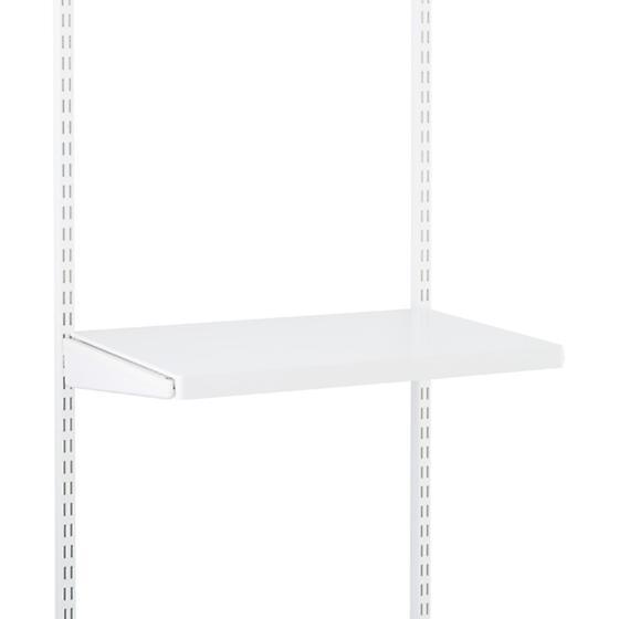 White elfa décor Gliding Shelf