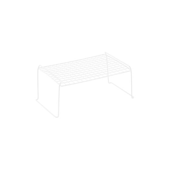 White Medium Grid Stacking Shelf