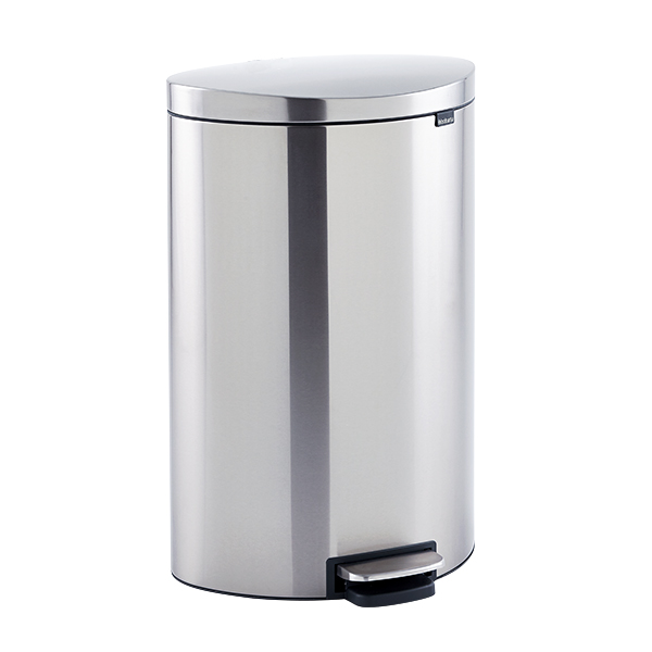 Stainless Steel 10 gal. Flatback Semi-Round Can
