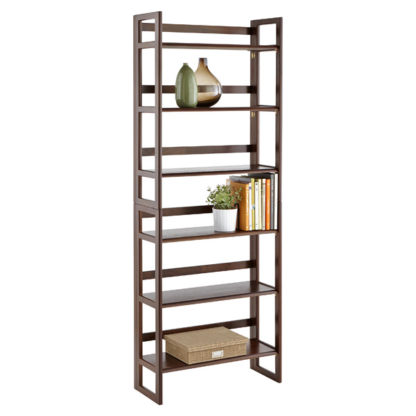 Java solid wood stackable folding bookcase the container Folding bookshelf