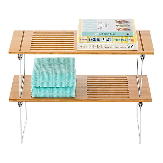 Large Bamboo Stacking Shelf The Container Store