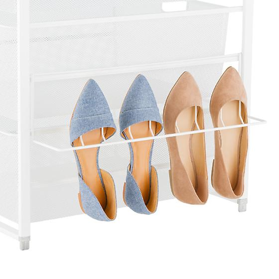 White elfa Hangmate Shoe Rack