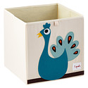 Peacock Storage Cube by 3 Sprouts