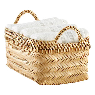 Small Woven Bamboo Basket