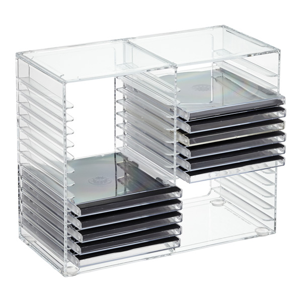 Acrylic Cd Rack The Container Store  sc 1 st  Lovequilts & Plastic Dvd Storage Racks - Lovequilts