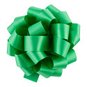 Holiday Green Satin Bow