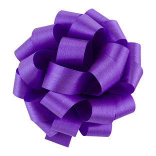 New Violet Satin Bows