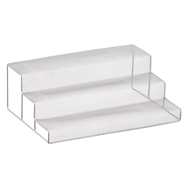 3 Tier Silver Mesh Cabinet Organizer The Container Store