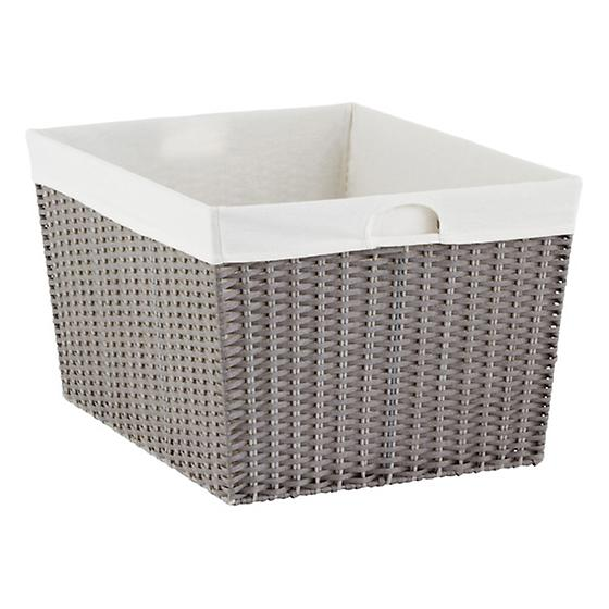 Grey Montauk Rectangular Basket
