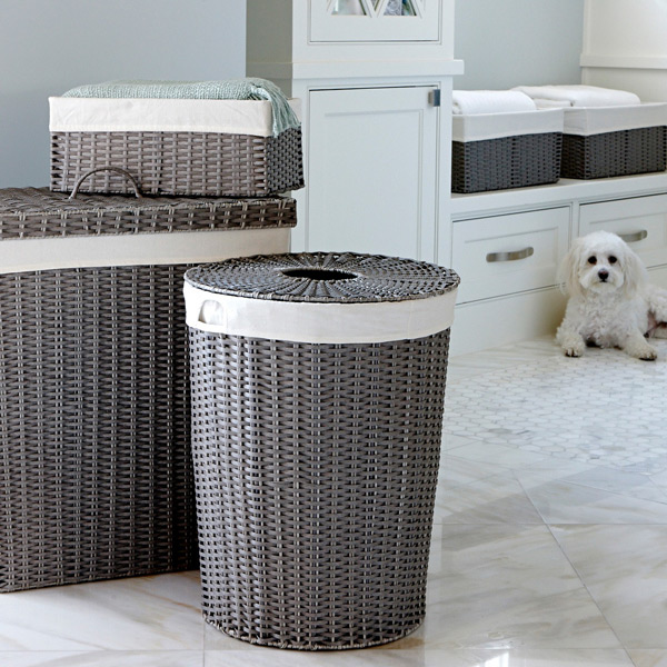 Grey Montauk Rectangular Hamper