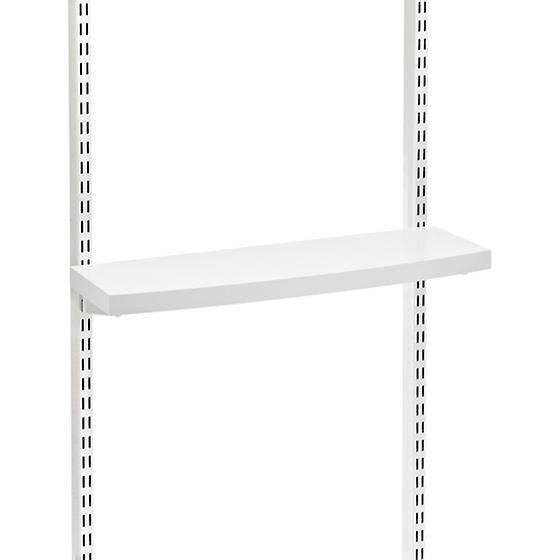 White elfa décor Accessory/Monitor Shelves