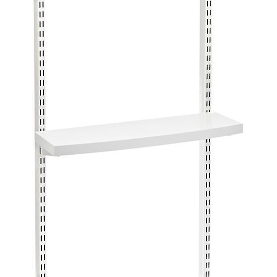 White elfa décor Accessory/Monitor Shelves
