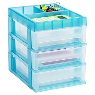 Mini 3-Drawer Desktop Organizer