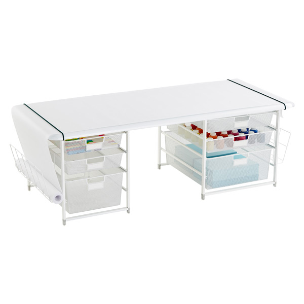 White Elfa Playroom Kids 39 Coloring Table The Container