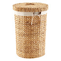 Round Water Hyacinth Laundry Hamper