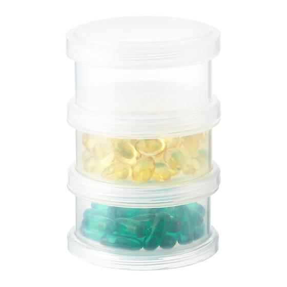 3-Section Round Medication Case