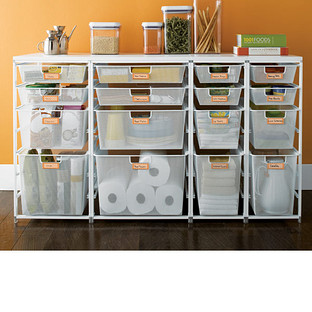 Cabinet-Sized elfa Mesh Pantry Drawers