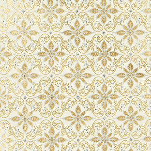 Glitter Gold & Silver Scroll Recycled Gift Wrap Sheets