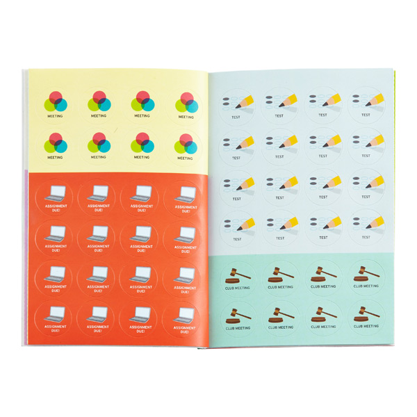 School Calendar Stickers