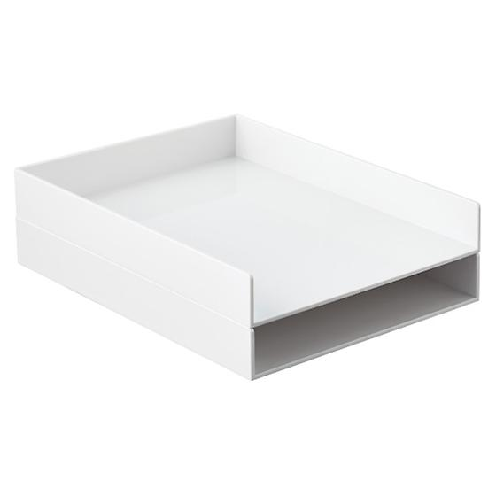 White Poppin Stacking Letter Tray