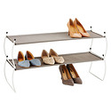 White Carrie Stacking Shoe Shelf by Umbra