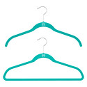Teal Huggable Hangers Case of 40