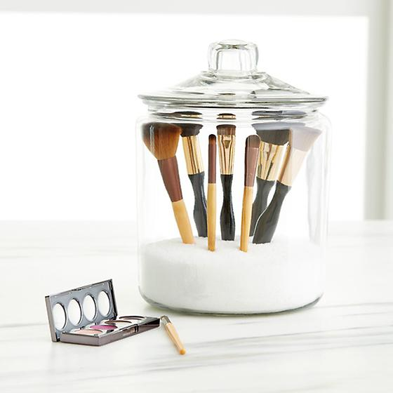 Glass Canisters with Glass Lids