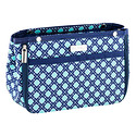 Navy & Aqua Tile in.bag Handbag Organizer