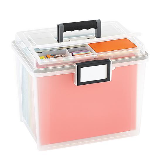Weathertight Portable File Tote