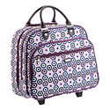 Rolling Tote Purple Ikat by baggallini