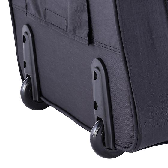 Black Rolling Tote With Black Piping By Baggallini The