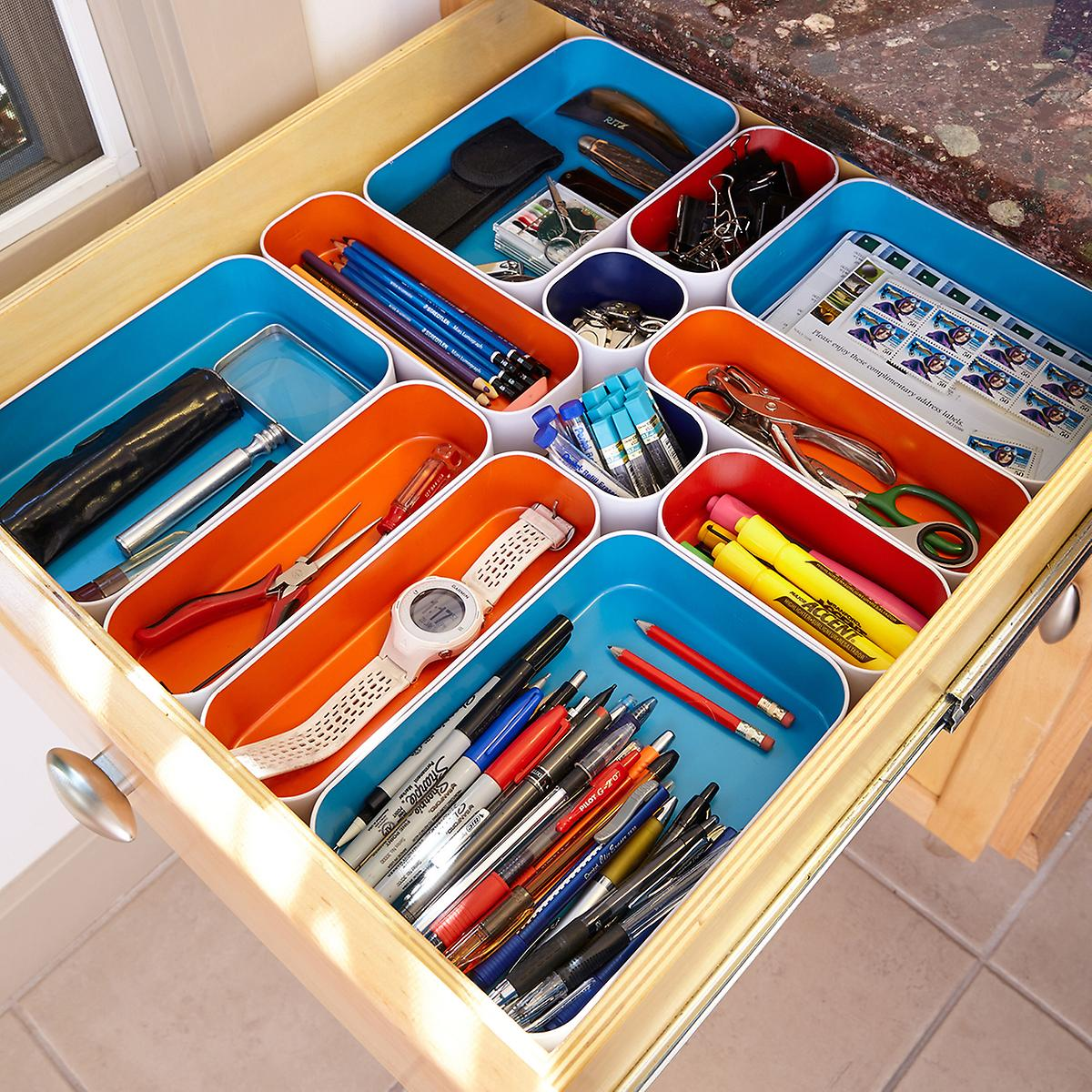 metal drawer organizers the container store