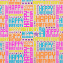 Happy Birthday Brights Kraft Recycled Gift Wrap