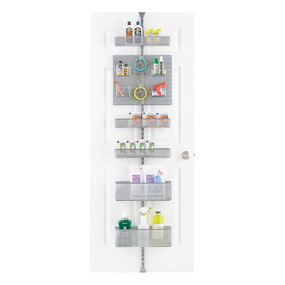 Elfa Utility White Mesh Pantry Door Wall Rack: Platinum Elfa Utility Door & Wall Rack Solution