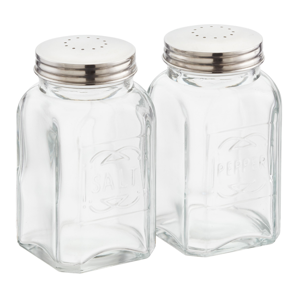 Glass Salt And Pepper Shaker Set The Container Store