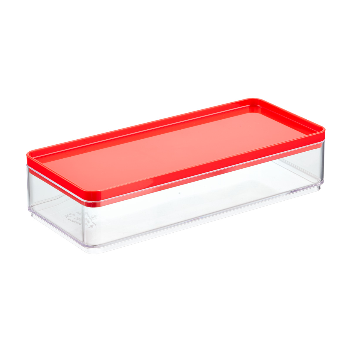 Airplane Clear Favor Boxes : Stackable rectangle clear containers with red lids the
