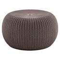 Harvest Brown Knit Pouf